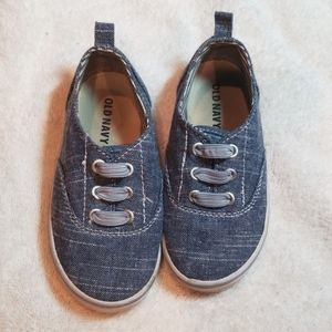 Old Navy Blue Canvas Sneakers Toddler Size 8T